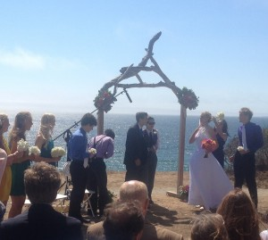 Wedding on ocean bluffs